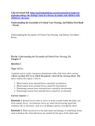 introduction to heat transfer 6th edition solution manual test bank for understanding the essentials of critical care
