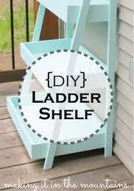 Diy Ladder Shelf Shelves Tutorials by Diy Ladder Display Shelves I Love This Cute Idea For A Covered