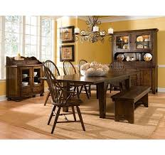 Broyhill Furniture Attic Rustic Leg Dining Table With Leaves - Broyhill dining room set