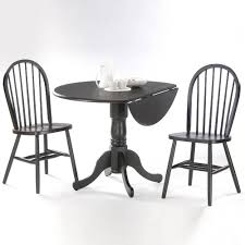 international concepts black wood spindle back windsor dining