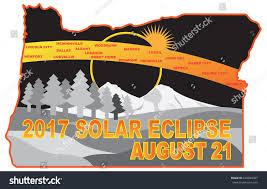 2017 solar eclipse totality across oregon stock illustration