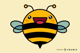 cute bee cartoon vector download