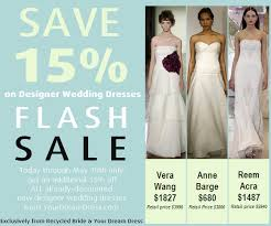 designer dresses sale flash sale 15 new designer wedding dresses the