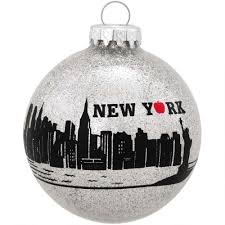 new york city skyline glass ornament bronner s