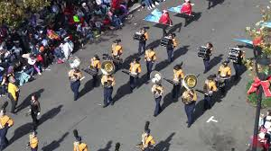 bluestone hs marching band in raleigh parade 2017