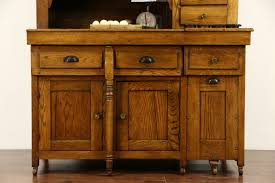 sold mcdougall signed combination oak 1900 antique dry sink