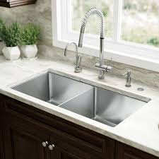 Kitchen Sinks Drop In Double Bowl by Glacier Bay Allinone Dropin Stainless Steel 33 In 4hole Single