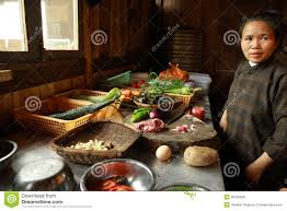 chinese restaurant kitchen design products are on the table asian woman preparing chinese dishes