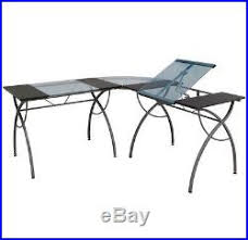 Drafting Table Computer Desk Drafting Table L Shaped Desk Glass Writing Computer Home Office Design