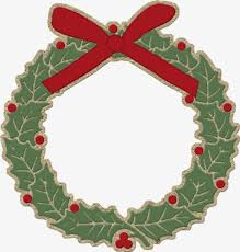cartoon christmas wreath christmas wreath merry png image for