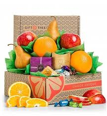 Snack Baskets Harvest Fruit And Snacks Sampler Fruit Gift Basket