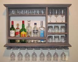 Glass Bar Cabinet Liquor Shelf Etsy