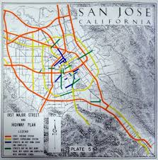 San Jose Map by San Jose California 1957 Major Street And Highway Plan Flickr