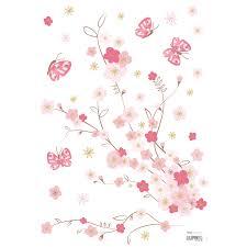 fleurs dans une chambre stickers a3 fleurs de cerisier et papillons cherry blossom by
