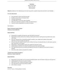 Hha Resume Samples by Home Health Care Resume Skills Contegri Com