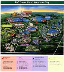 walt disney resort map map of disney resorts my