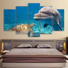 dolphin home decor aliexpress com buy modular wall art pictures canvas hd printed