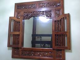 balinese window with mirror for home decor singapore