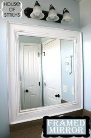 white framed mirrors for bathrooms diy framed mirror tutorial thick baseboard i think it was about