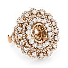 diamond cocktail rings diamond cocktail ring semi mount 2 24ct 18k gold vintage style