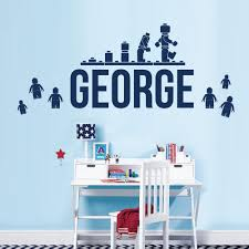 online get cheap children wall stickers lego aliexpress com customer made personalised name children wall art sticker lego movie lego blocks you choose name and color