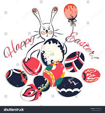 template greeting cards easter funny cartoon stock vector
