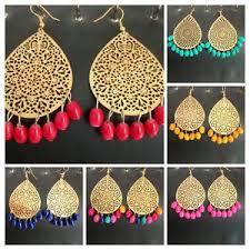 jhumka earrings uk indian traditional gold plated net pearls jhumka earrings ethnic
