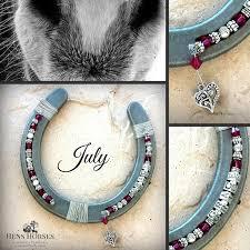 personalized horseshoe july personalized birthstone horseshoe custom made with one name