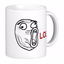 Customize Meme - lol laugh out loud rage face meme travel white coffee mugs tea mug