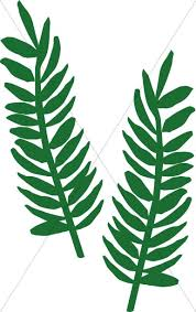 palm fronds for palm sunday two palm fronds palm sunday clipart