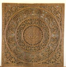 Kan Thai Decor Wall Panels Lotus Panel 3D Teak Wood