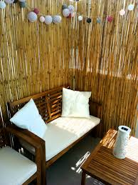 bamboo sticks are a great idea to create intimacy on an open