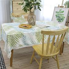 farmhouse style table cloth zhulu new farmhouse style artistic fresh green leaves polyester