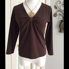 brown blouse 85 michael kors tops michael kors brown blouse from