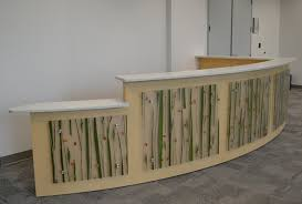 Reception Desk With Transaction Counter Maple Laminate Reception Desk With 3form Panels And Environite