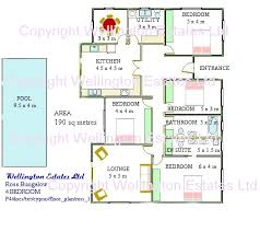 four bedroom floor plans ross bungalow 4 bedroom floor plan