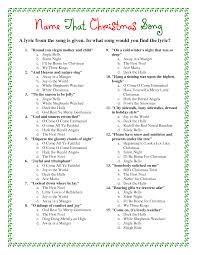 printable christmas song trivia game ideas pinterest trivia