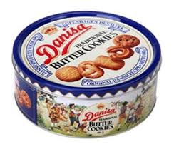 danisa butter cookies 16 ounce 1lb in a tin
