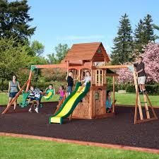 backyard discovery montpelier cedar wooden swing set home