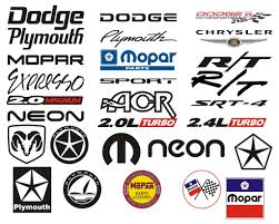 logo dodge tons of neon dodge mopar logos and emblems for all to use www