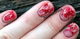 packapunchpolish bloody ripped flesh halloween nail art