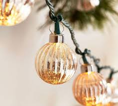 Silver Mercury Glass String Lights Pottery Barn