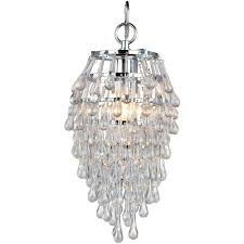 Teardrop Crystals Chandelier Parts Af Lighting Crystal Teardrop 1 Light Chrome Mini Chandelier With