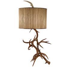 custom made deer horn table lamp at 1stdibs