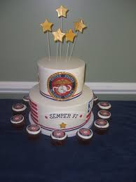 military marine cake top layer is vanilla bottom is wasc all
