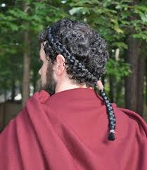 King Leonidas Costume Halloween King Leonidas Braid Leonidas Hair Leonidas Hair Tail