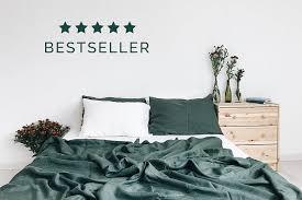 green bed set emerald 3 piece linen bedding set linen duvet cover 2