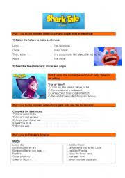english teaching worksheets shark tale