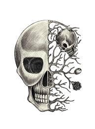 art skull surreal stock illustration image of demon 68106769