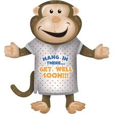 get well soon for children 36 get well soon monkey balloon b6 kitchen dining